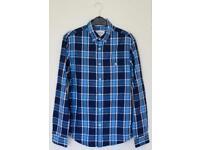 Small Blue Checkered Shirt By Burton Menswear