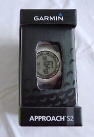 Garmin Approach S2. GPS Watch in white.