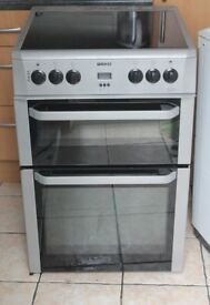6 MONTHS WARRANTY Silver Beko 60cm, double oven electric cooker FREE DELIVERY