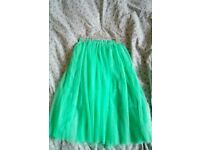 Green aquamarine tulle skirt / one size