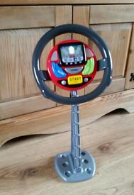 Childs steering wheel toy