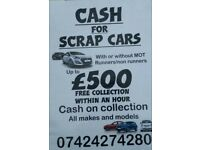 Scrap cars/cash/cars bought/Nottingham scrap