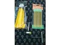 NEW TENT PEGS, CAMPING MALLET AND TENT PEG PULLER