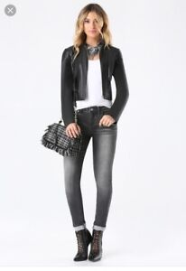 Bebe Faux Leather Jacket (Size S)