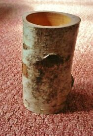 Birch Wood Trunk Pen Pencil Holder / Vase For Dried or Artificial Flowers / Decorative Ornament