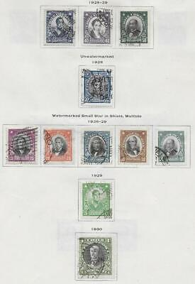 11 Chile Stamps from Quality Old Antique Album 1928-1930