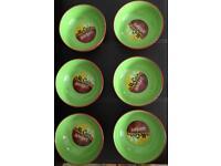 Six McCain Wedges Ceramic Serving Bowls