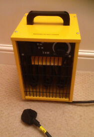 heater kingavon powerfull 3000w BB-FH206 yellow black