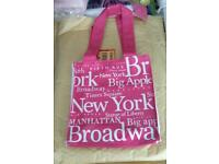 Pink new york bag