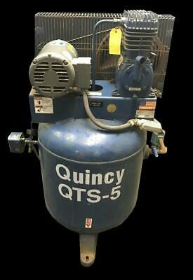 Quincy Qtsv-5-30 Air Compressor 5 Hp Motor 30 Gallon Tank 230v 460v 3 Ph
