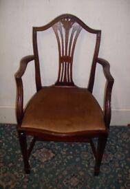 Art Deco Wooden Armchair ID 114/11/17