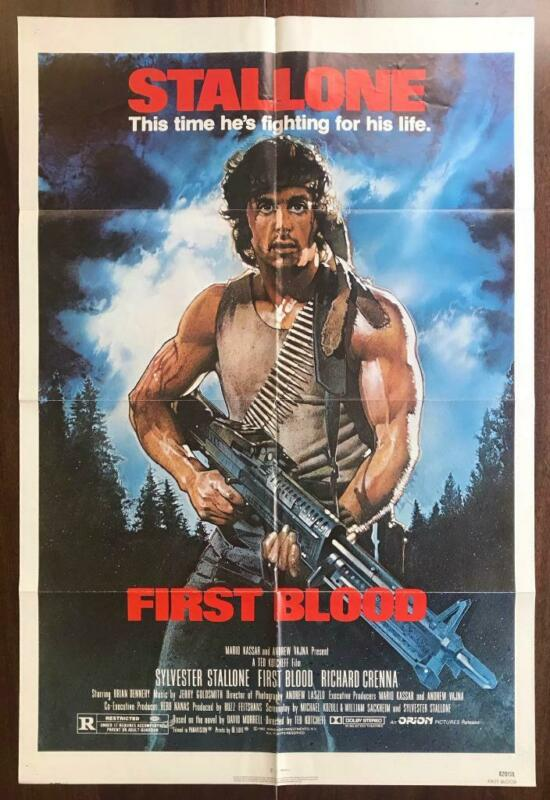FIRST BLOOD 1982 Stallone Rambo Commando Action Struzan ORIGINAL MOVIE POSTER