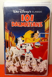 WALT DISNEY'S CLASSIC 101 DALMATIANS VHS FACTORY SEALED TAPE 1992 ~ NEW!!