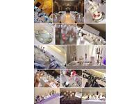 WEDDING DÉCOR SALE : CHAIR COVERS, CENTREPIECES etc