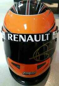 F1 Formula Signed Grosjean Lotus 1/2 helmet