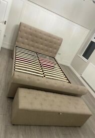 King-size bed and bedding box and dressing table