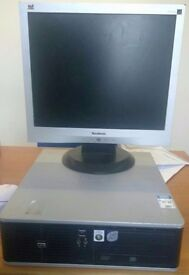 Desktop PC with Monitor - Ready for use - HP Compaq DC7800P - UNDER £50