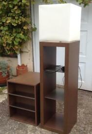 ITALIAN DESIGNER NATUZZI SHELVING DISPLAY STAND/LIGHT & SIDE TABLE CD/DVD STORAGE. MODERN