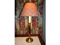 Laura Ashley Vintage Brass Table Lamp with Shade