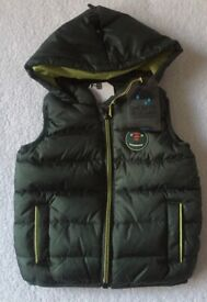 BNWT Next Baby Boy Hooded Gilet 3 - 6 Months