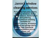 Window cleaner and pressure washing