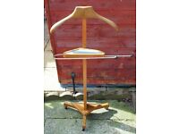 VINTAGE VALET STAND MADE BY CORBY OF WINDSOR.