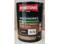 Johnstone Opaque Russet Wood Finish Paint 5ltr