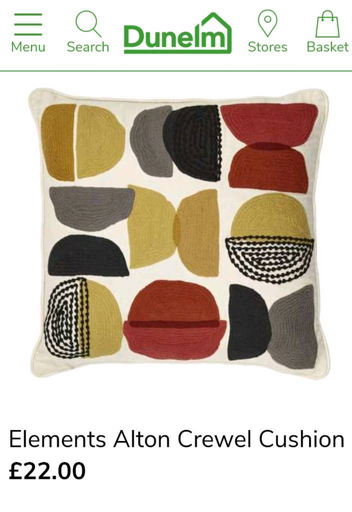 Dunelm Cushions x2 RRP £44