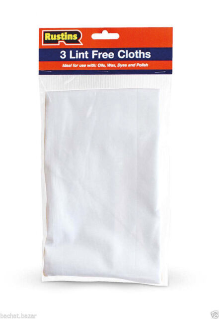 Rustins Lint Free Cloths - Pack Of 3 - Ideal for Applying Oils Waxes Dyes Polish