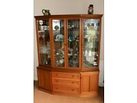 G Plan Style Teak display cabinet with integral lighting