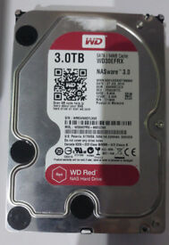 wd 3tb red wd hard drive WD30EFRX FULL WORKING ORDER