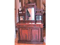 Edwardian or victorian sideboard chiffonier mirror backed