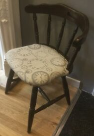 Old Wooden Captain's Chair