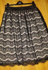 Ladies Black Lace Skirt
