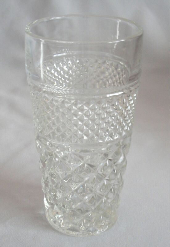 Flat Iced Tea Glass Anchor Hocking Glass Wexford Clear Very Good Condition