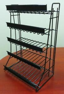 5 Tier Shelf Counter Top Snack Gum Card Potato Chip & Candy Display Rack - Black - BRAND NEW - FREE SHIPPING