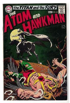 DC Comic ATOM Silver age  #43 Hawkman FN+  superman 1968