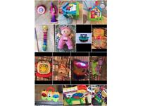 Various baby toys, good brands
