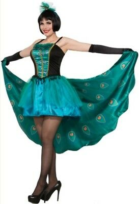 Pretty In Peacock Adult Women's Costume Dress Sexy Tail Animal Exotic Bird STD