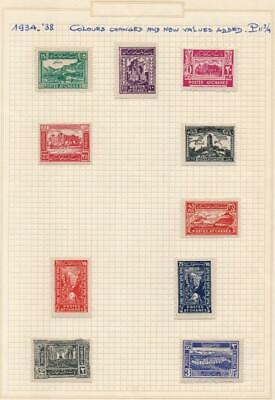 AFGHANISTAN: 1934-38 Used Examples - Ex-Old Time Collection - Album Page (40473)