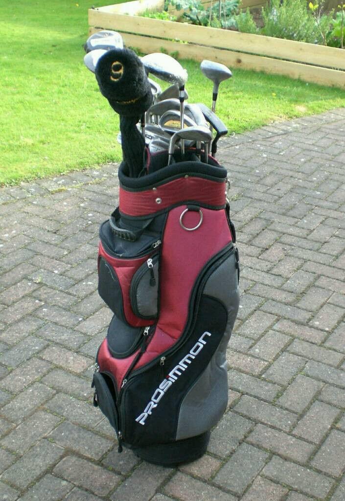 Golf Club Set with Trolley and Golf Bag