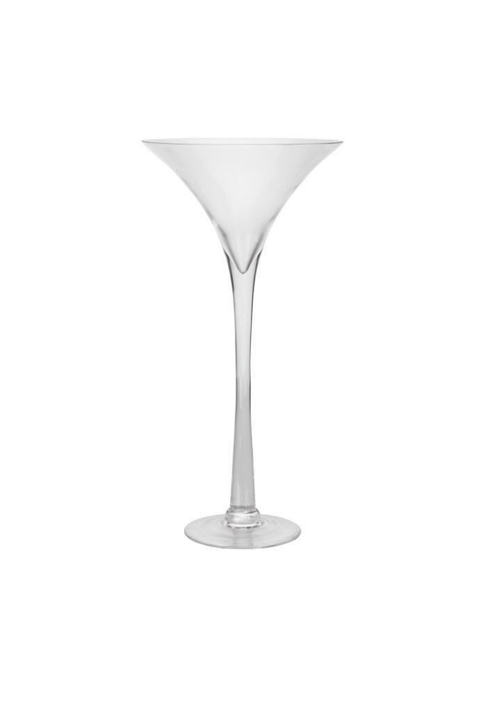 Tall Martini vase/candle holder x 5