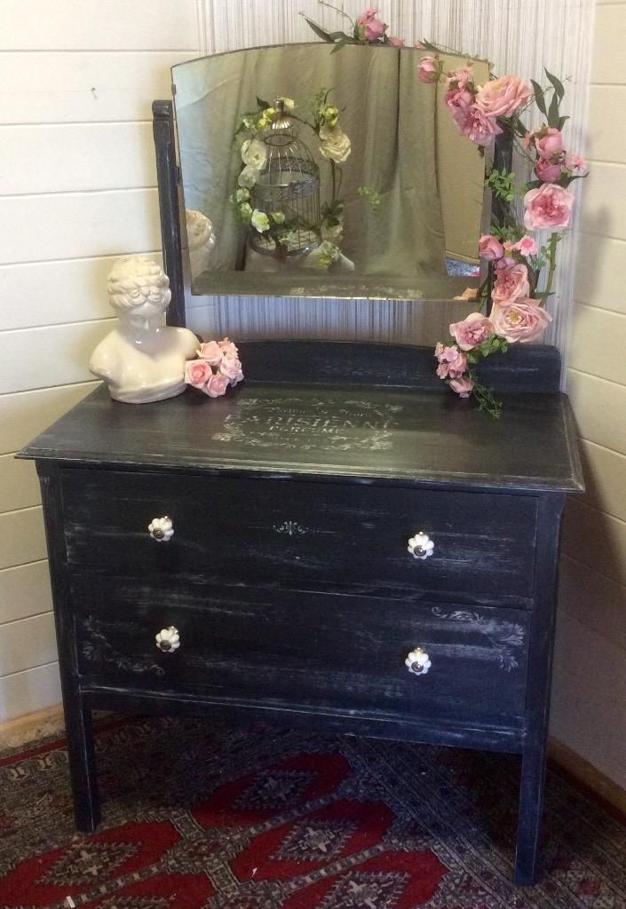 Hand Painted Dressing Table Vintage Hand Painted Dressing