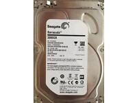 """Seagate 3TB barracuda tm 3000GB 7200RPM 6Gbs HDD SSD 3.5"""""""