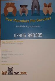 Paw Pounders Pet Services offering dog walking, dog boarding and cat feeding service