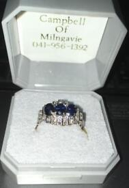 Diamond & sapphire ring for sale £500 ono