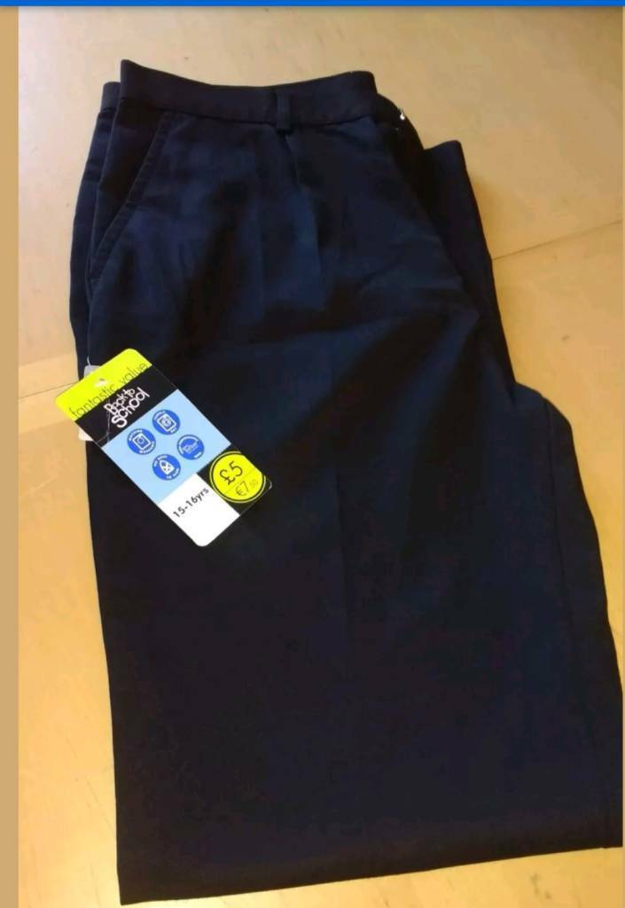 Brand new school trousers 15-16 years