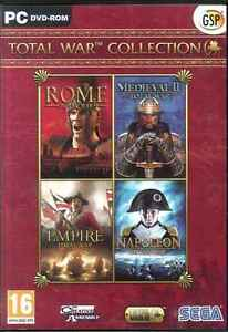 Total War Collection Rome, Medieval II 2, Empire & Napoleon RTS Strategy PC Game
