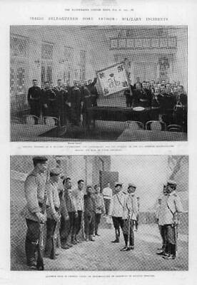 1904 Antique Print - PORT ARTHUR Military Interrogation General Stoessel (312)