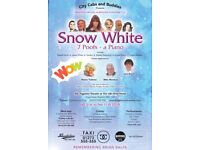 2 TICKETS ADULT PANTO BRIGHTON SNOW WHITE 7 POOFS - A PIANO SAT 03 FEB 5PM HILARIOUS UNABLE TO GO